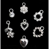 Small rhinestone ornament bikini charm pendants