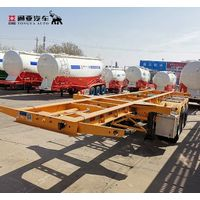 Factory Sale 20ft Skeleton 40ft Container Chassis Semi Truck Trailer