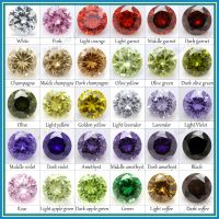 All color small size micro pave round cz bead for jewelry