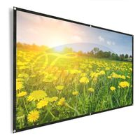 Projector Screen, 92 Inch 16:9 HD Foldable Screen with Sticky Hooks and Ropes thumbnail image