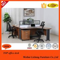 Modern Office Workstation with aluminum partition