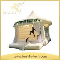 Outdoor Princesses White Castle Inflatable Models For Party thumbnail image