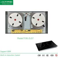 E. K. M Built-in Double Burner Induction Cooker, 3600W, Can Use 5 Years (TI36-2L07)