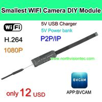 WI-V55, Cheap WIFI Camera DIY Module, 1080p,H.264,APP BVCAM, Good Price,Without battery thumbnail image