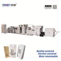 ZDF-KM200 Roll Feed Square Bottom Food Use Paper Bag Making Machine with Film Attaching