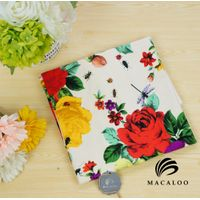 Macaloo Textile elastane digital printing cotton jersey fabric