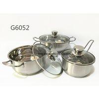 NEWEST 3pcs Stainless Steel Casserole Pot Set with glass lids