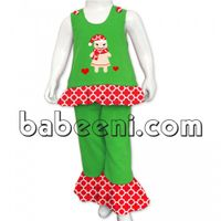 Adorable gingerbread appliqued A-line set