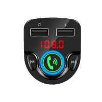 Wireless Car Audio Bluetooth FM Transmitter with 2-Port USB Car Charger thumbnail image