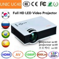UNIC UC40 Simplified Micro Projector led dlp video projector beamer 1080p 1920x1080 Korean Russian P