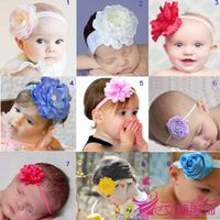 Cute Baby girl Headband With flower In Centre/feather headbands for babies
