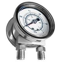 Stainless Steel Case Differential Pressure Gauge (Dual Pointers & Bourdon Tubes Type) #MDB-DPDB-SC