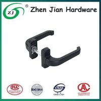 Double sided door handle lock for flush door and window