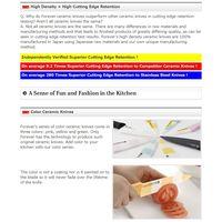 ULTRA SMOOTH SURFACE CERAMIC + HIGH DENSITY ANTIBACTERIAL CERAMIC KNIVES YELLOW140mm thumbnail image
