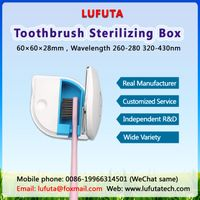 LUFUTATECH toothbrush sanitizer UV light, toothbrush sterilizer portable rechargeable for travel