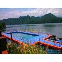 Floating Cube Pontoon Swimming Pool