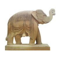 Outdoor Decoration Marble Stone Elephant Sculpture thumbnail image