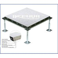 Wood core raised floor panel