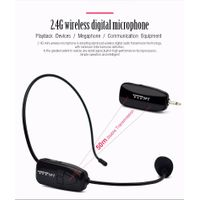 2.4G headset microphone with mini usb receiver for teaching and presentation conference