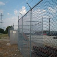PVC plastic coated decorative high quality chain link fence