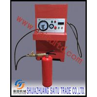 Nitrogen filling machine for reliable and accurate pressurization of fire extinguishers.