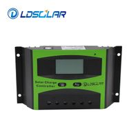 Factory price Auto 12v 24v 48v 30A PWM solar charge controller with LCD