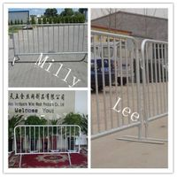 crowd control barricade/ steel barrier/Pedestrian Barrier/crowds stopper barricade