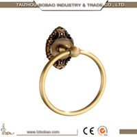 Extravagant Ceramic Decorative Bright Gold Towel Rings for Bathroom