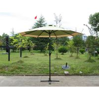 9ft Alum with crank & titl parasol umbrella