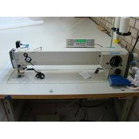Heavy duty Long Arm 3 step Zigzag sewing machine