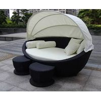 Outdoor wicker furniture-sunbeds with cushion and pillow