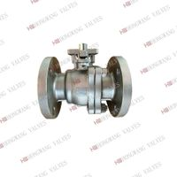 Stainless Steel Full Bore Flange Manual Ball Valve With Handle Lever