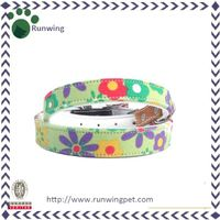 Colorful Blossom Printed Canvas Dog Collar