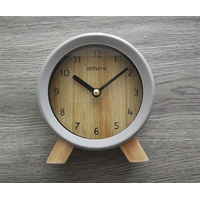 Vintage Non-Ticking Desk Clock | Table Clock on Stand | Rustic Mantel Clocks for Living Room Decor thumbnail image