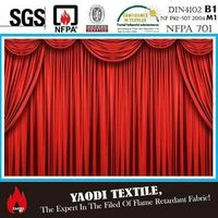 IFR velvet fabric for stage curtain or theatre curtain