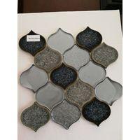 New Arrival gray color waterdrop porcelain mix cast glass mosaic tile