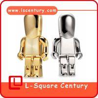 8G usb flash driver metal mini robot memory disk full capacity made in china