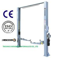Extension Column Clear Floor Two Post Car Lift Manual Lock Release with Ce ISO thumbnail image