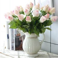 Home Furnishing decoration Rose bud Artificial Flower