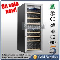Dual Zone Stainless Steel Wine Refrigerator Cooler