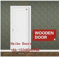 Modern design mdf pvc coated door internal flush doors for bathroom,washroom