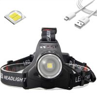 Ultra Bright Rechargeable LED Headlightfor Outdoorworkingand ridingZoomable IPX45 head flash thumbnail image