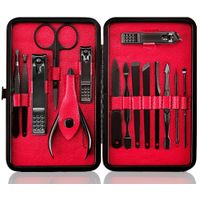 15pcs Manicure Set Nail Clipper Set Beauty Tools Pedicure Set Grooming Kit