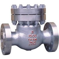 Cast SS swing check valve CF8M flange ends 1500lbs