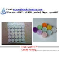 wholesale paraffin wax white tealight candle with good price