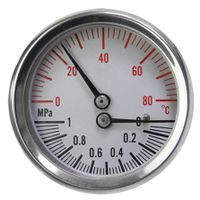Stainless Steel Case Thermo-manometer #TMG-SC