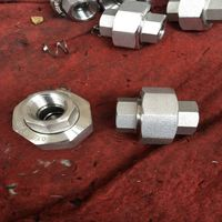 High pressure threaded NPT union pipe fitting