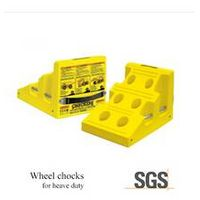 For lubrication trucks and maintenance vehicles's polyurethane wheel chock