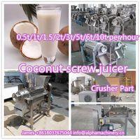Low price apple juicing machine/coconut screw juicer/Commercial Fruit Vegetable Screw Juicer thumbnail image