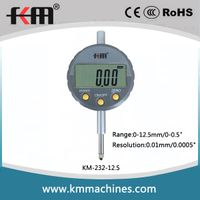 0-12.7mm/0-0.5'' Digital Indicator with 0.01mm/0.0005'' Resolution